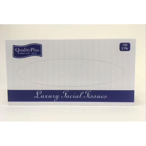 Tissues Facial 2 Ply 100's